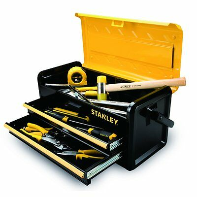 STANLEY 19-Inch Metal Tool Box with Two Drawers (STST19502)