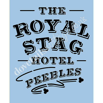 Royal Stag Stencil A4 Re-Usable Shabby Chic Airbrush Hotel Wall Craft 045 BOX