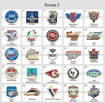 Ice Hockey Pin Badge Russia KHL VLH MHL All Clubs PART 2
