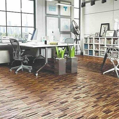 Industrial Smoked Oak Parquet 300x22x22mm Solid Hardwood S22KPS