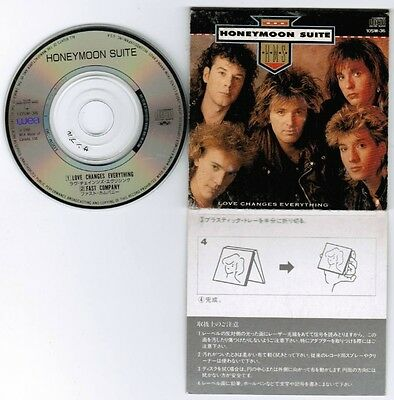 "Promo! HONEYMOON SUITE Love Changes Everything JAPAN 3"" CD 10SW-36 Sleeve Cut"