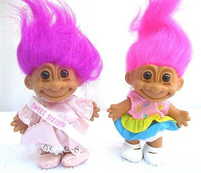 "LOT of 2...TROLLS...5"" RUSS...""SUNDRESS TROLL & SWEET 16 TROLL""...NEW...MINT"