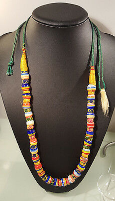 African ,jamacan Heavy Beaded Necklace,hand Made , Beautiftul Noticable Style ,