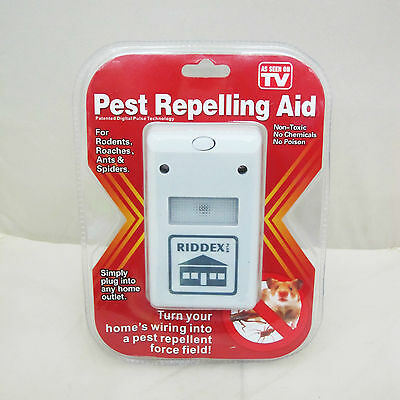 High Quanltiy Riddex Plus Electronic Pest Rodent Control Repeller 220V  Plug WE