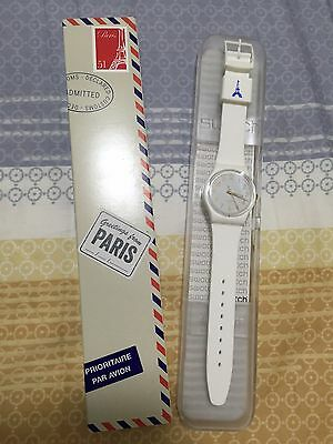 """Swatch Special """"greetings From Paris"""" Gw164F Limited Edition Nib!!!!!!!!!!"""