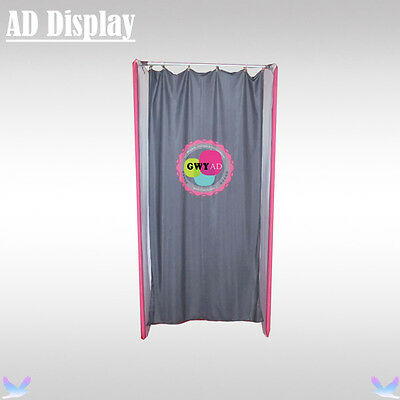 Portable Tension Fabric Fitting Room With Single Side Printed Advertising Banner