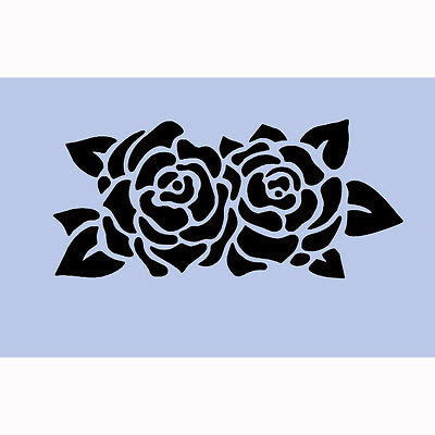 Rose Garden Stencil 189 x 297mm  Re-Usable Shabby Chic Paint Wall Craft DIY 037