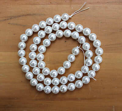 Natural Shell Pearls 6.4-6.5mm Rounds AA Grade - Full Strand