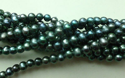 Natural Pearls Almost Round Freshwater Cultured A Grade, 6-7mm - Full Strand