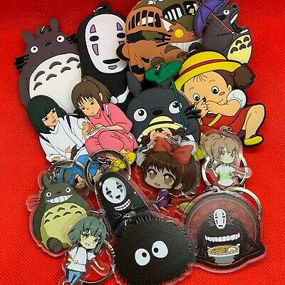Studio Ghibli Large Keyring Key Ring Chain Totoro Catbus No Face Mei *NEW*