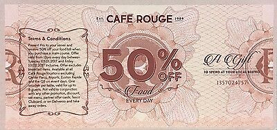 Cafe Rouge Restaurant  - 50% Off Voucher For Up To 6 People