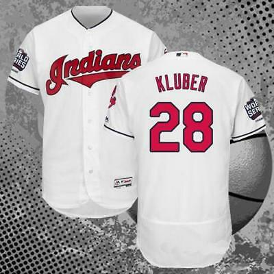Corey Kluber #28 Cleveland Indians 2016 World Series Flex Baseball Jersey White
