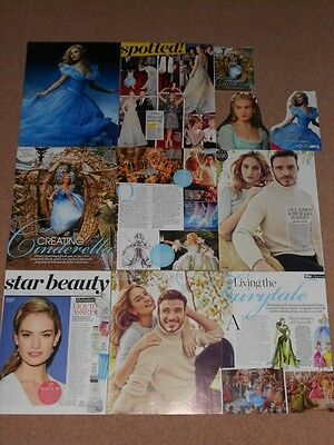 10+ LILY JAMES Magazine Clippings