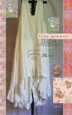 ZELDA SLIP & BLOOMERS SEWING PATTERN, from Tina Givens, *NEW*