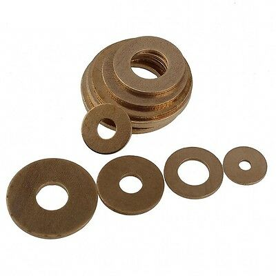 M2,2.5,3,4,5,6,8,10,12,18,20mm Solid Brass Flat Washers to Fit for Bolts & Screw