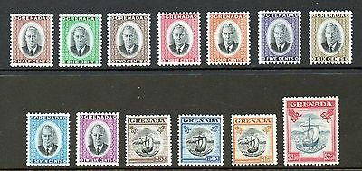 Grenada 1951 Full Set 13, SG172-84, Very Lightly Mounted Mint / MLH (A545)