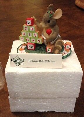 Charming Tails BUILDING BLOCKS OF CHRISTMAS 1998 Figurine Baby 1st 87/619