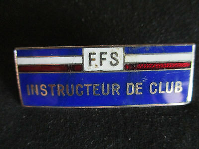 Broche Insigne Badge Ffs Instructeur  Club Numerote Federation Francaise De Ski