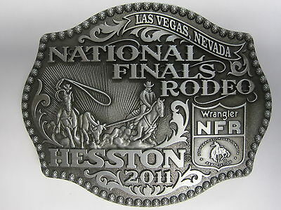 National Finals Rodeo Hesston 2011 NFR Adult Cowboy Buckle New Wrangler AGCO