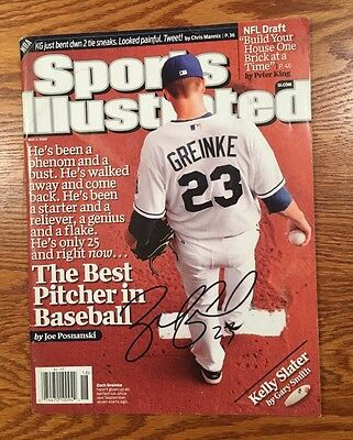 ZACK GREINKE Signed KC Royals 2009 SPORTS ILLUSTRATED SI CY YOUNG AUTHENTIC AUTO