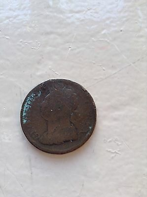 1822 irish george the 4 penny upside down on reverse