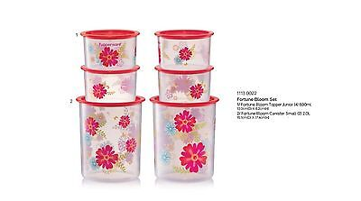 New Tupperware One Touch Topper Canister 6pc with prints