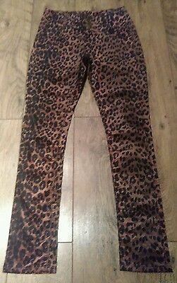 Collectif 'Maddie' leopard print velvet high waisted stretch jeans. Rockabilly