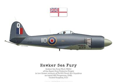 Print Hawker Sea Fury FB.11 VR930, Royal Navy Historic Flight (par G. Marie)