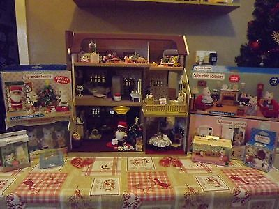 *Carol-Ann*Sylvanian Decorated House with NEW furniture accessories SALE