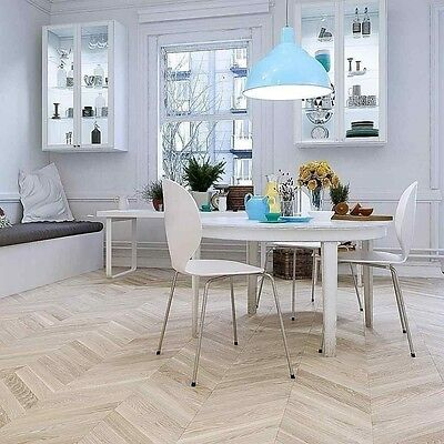 White Oiled Oak French Chevron Parquet E14JC1