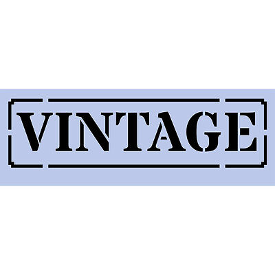 Vintage Stamp Stencil 297x105mm Re-Usable Shabby Chic Airbrush Paint Craft 063
