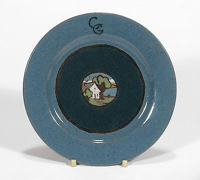 SEG Saturday Evening Girls Paul Revere Pottery house landscape plate arts crafts
