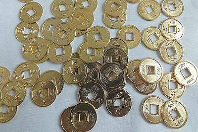 12 Chinese Small Gold Lucky I-Ching Feng Shui Coin Wedding New Year Party Gift