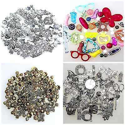 100 gram MIXED LOT BAGS OF BEADS BEADCAPS & CHARMS Seconds - See Description