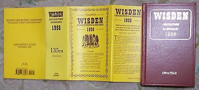 RARE Fine 1998 WISDEN Cricketers' Almanack Hard Back Book