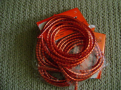 NOS RED Cable Wrap Coil Cover Bicycles  Scooters antique vintage whizzer