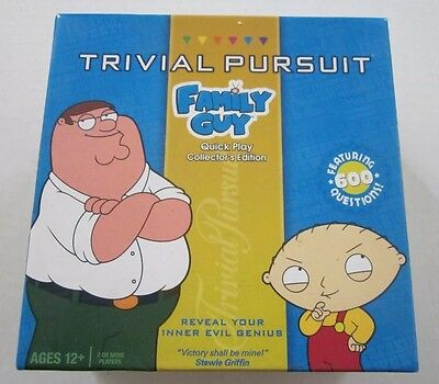 Hasbro TRIVIAL PURSUIT Family Guy  Collector's Edition Game Quick Play