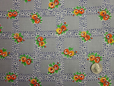 """Feedsack Vintage """"FLORAL"""" 100% Cotton Quilt & Sewing Fabric"""