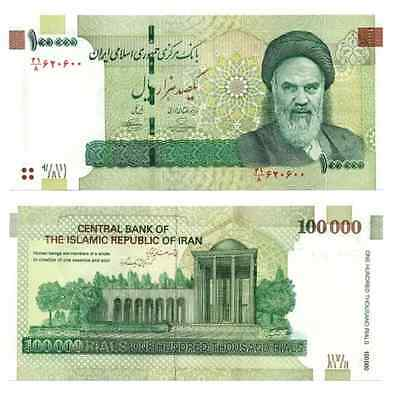 20 x 100000 (100,000) Iran Rials Banknotes - Uncirculated Currency Paper Money