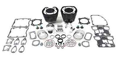 """Black 95"""" Twin Cam Big Bore Cylinder and Piston Kit For Harley TC-88 2000-2006"""