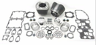"Silver 95"" Twin Cam Big Bore Cylinder and Piston Kit For Harley TC-88 2000-2006"