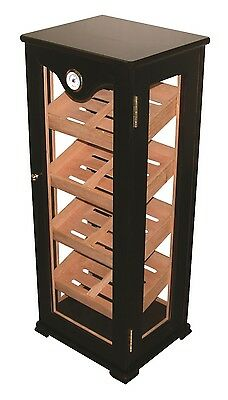 Glass Display Cabinet Cigar Humidor Fits 300 Cigars Mahogany - Display 7