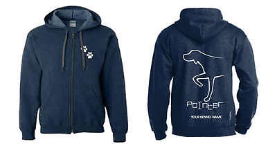 Pointer Dog Breed Hoodie, Exclusive Dogeria Breed Design, Men's & Ladies sizes