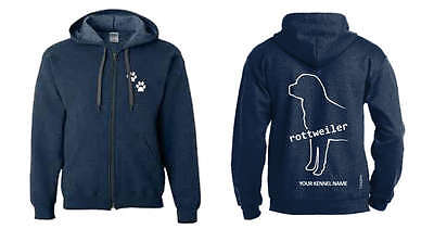 Rottweiler Dog Breed Hoodie, Dogeria Breed Design, Men's & Ladies sizes
