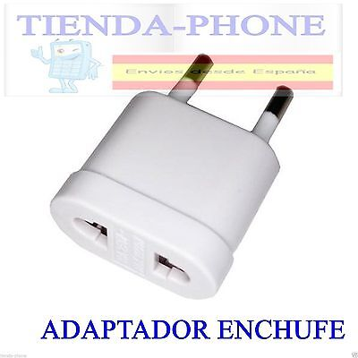 Adaptador enchufe corriente de US a EU (de americano a europeo)adapta chinos
