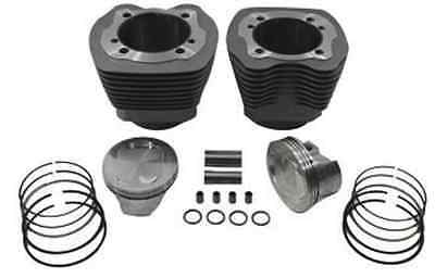 """Silver 107"""" Twin Cam Big Bore Cylinder and Piston Kit For Harley TC-88 2000-2006"""