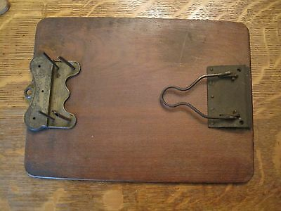"""Antique Shannon Arch pat 1878 Stacked Wooden Clipboard File 12 """"x 8 3/4"""" wood"""