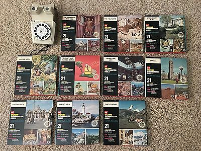 Vintage GAF Talking View-Master With 10 Complete Sets Of Reels - Snoopy and More