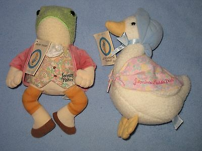 Pair Beatrix Potter Peter Rabbit series Jeremy Fisher Frog & Jemima Puddle Duck