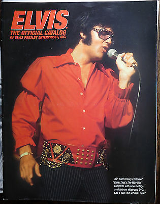 Elvis Presley Epe Official Catalog 30Th Anniversary Ttwii Red Silk Shirt Cover